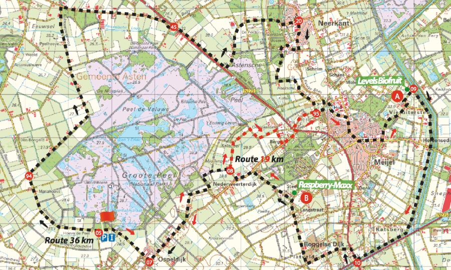 Grote Fietstassenroute; naar biologische adresjes