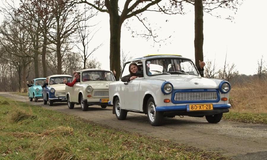 Vintage Trabant toertocht door de Peel