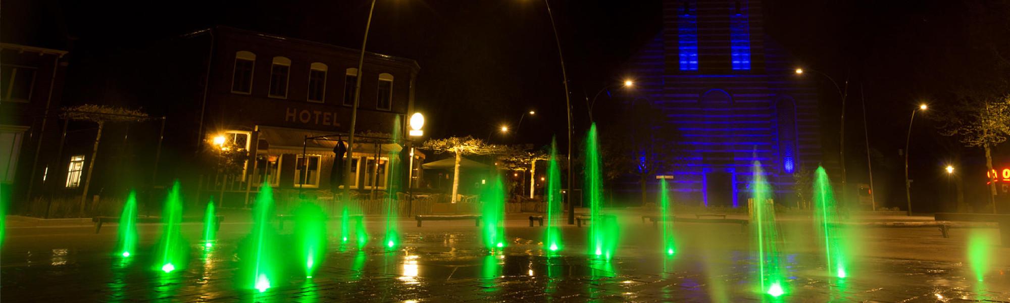 Fontein (avond groen)