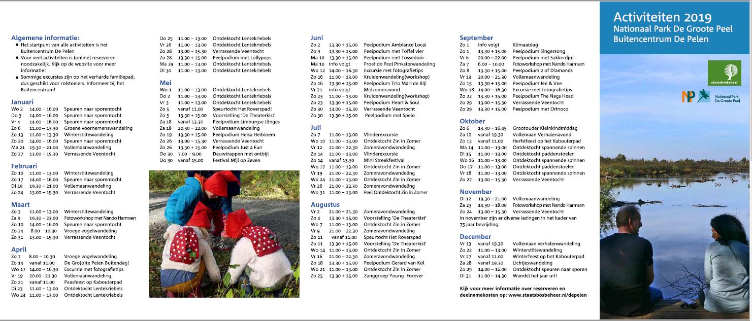 Activiteitenkalender 2019 - Nationaal Park De Groote Peel
