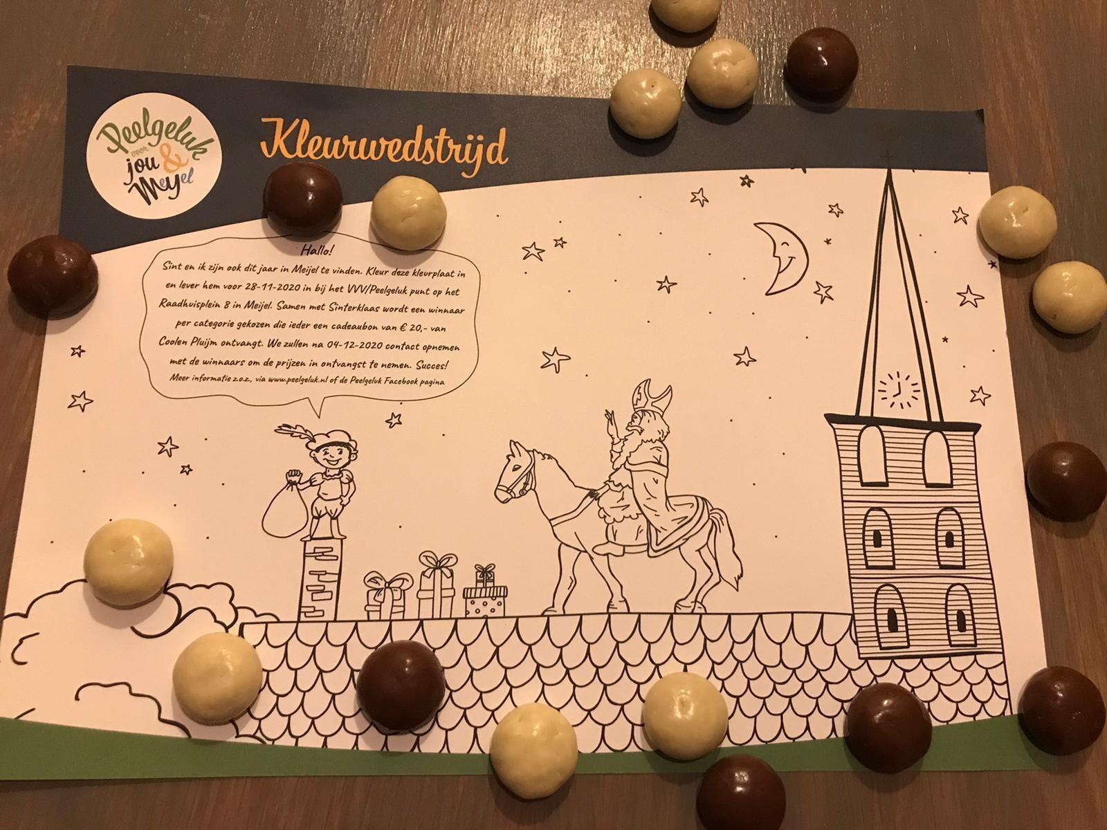 Sinterklaas Peelgeluk kleurplaat actie!