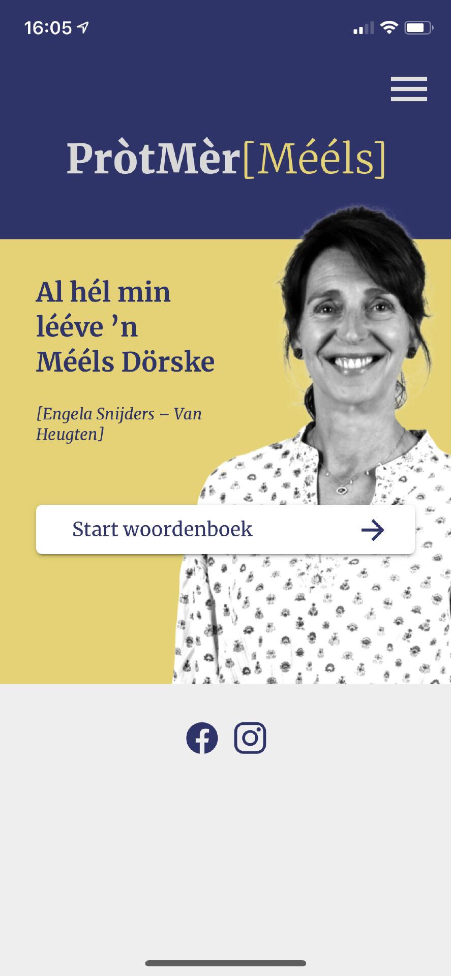 De Mééls woordeboe:k app is online!
